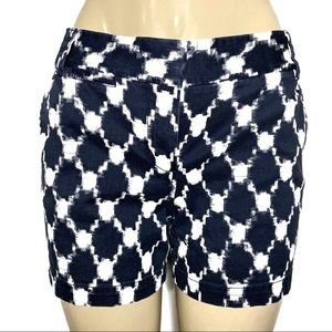 J. Crew Blue White Print Pockets Shorts Size 6